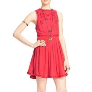 FREE PEOPLE embroidered dress sleeveless mini 2